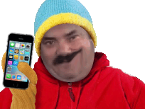 Sticker south park cartman kenny stan kyle iphone 7