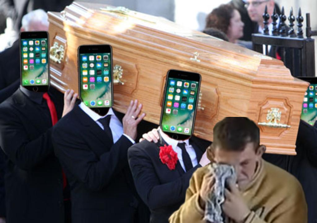 Sticker iphone pleure