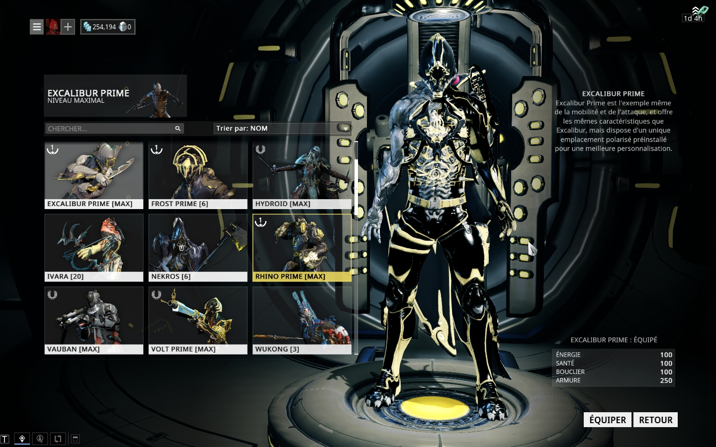 Warframe Account With Excalibur Prime