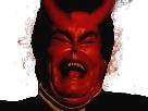 Sticker jesus diable demon satan lucifer enfer hell demoniaque diabolique
