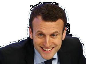 Sticker macron troll president rire 2017 en marche