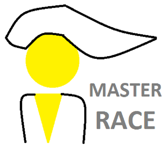 Sticker master race minimaliste
