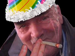 Sticker risitas anniversaire fete fume