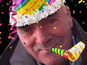 Sticker risitas anniversaire fete