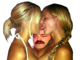 Sticker risitas celestin lesbiennes bisous kiss smack amour femme fille stress pron lesbian porno