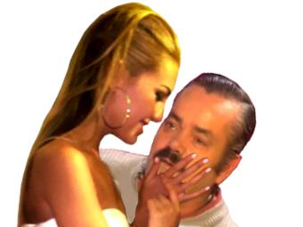 Sticker risitas femme bisou kiss smack amour copine saint valentin st main caresse dominatrice flirt drague seduction