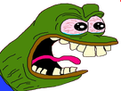 Sticker pepe the frog qui crie il est pas content