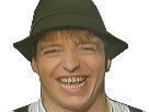 Sticker die woodys allemand chanteur bizarre sourire flippant