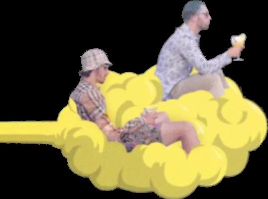 Sticker pnl nuage nos ademo qlf