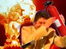 Sticker jesus risitas incendie feu explosion alerte au secours extinteur essence gaz