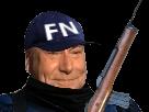 Sticker jesus quintero gendarme policier flic police fn front national le pen