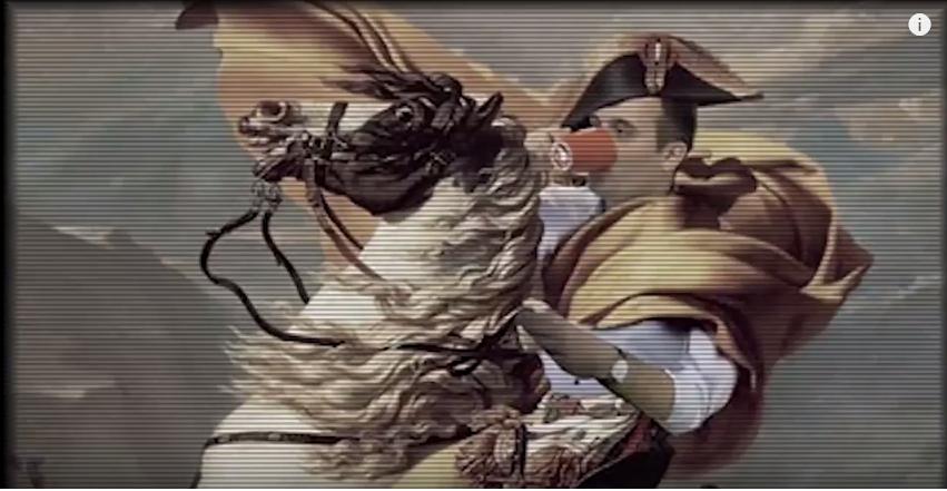 Sticker philippot napoleon tasse cheval chapeau