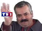Sticker tf1 risitas media chaine television tv