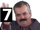 Sticker risitas chiffre chiffres nombre nombres 7 sept