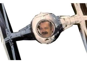 Sticker star wars chasseur tie avion de chasse espace navette spatiale vaisseaux cockpit risitas zoom