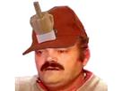 Sticker risitas casquette fuck doigt dhonneur