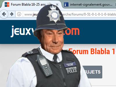 Sticker signal gouv issou jesus sucre deux police anglais