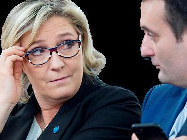 Sticker marine le pen florian philippot fn lunettes regard lepen front national mlp politic politique