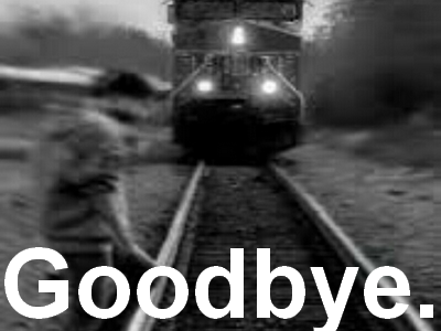 Sticker goodbye depression solitude train suicide