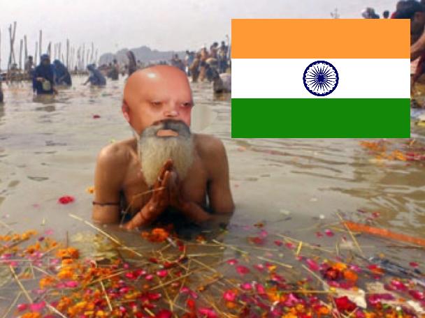 Sticker gange risitas issou sale serieux priere inde indien hindou