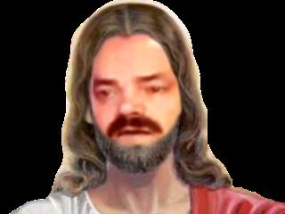 Sticker risitas jesus dieu issouisme risitisme chancla