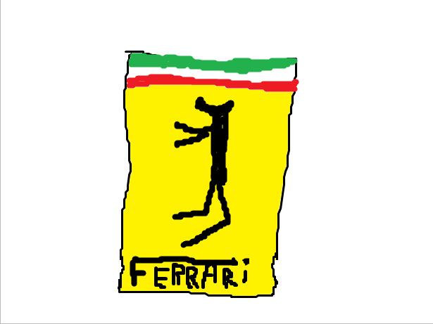 Sticker ferrari gamos italie eco plus forum auto automobile marque voiture supercar florinw