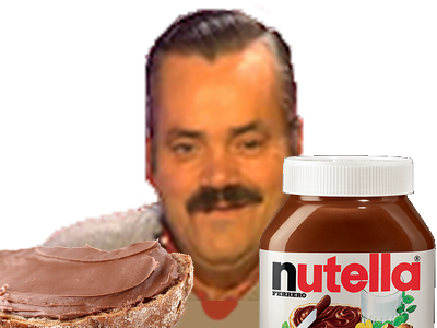 Sticker risitas nutella tartine petit dejeuner