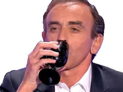 Sticker zemmour verre boire