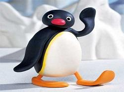 Sticker pingu pingouin slt bonjour