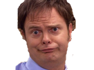 Sticker dwight schrute the office grimace