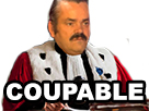 Sticker juge risitas phoenix wright coupable