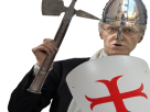 Sticker lesquen henry de lesquen lesquen 2017 croise templier tamplar jesus allah jerusalem