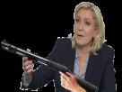 Sticker mlp mlp 2017 marine le pen fusil a pompe le pen arabes arabe france patriote melenchon