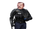 Sticker gendarme gendarme mobile crs police policier gendarmerie theo deux sucres 2 sucres risitas
