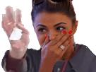 Sticker risitas femme mouchoir main