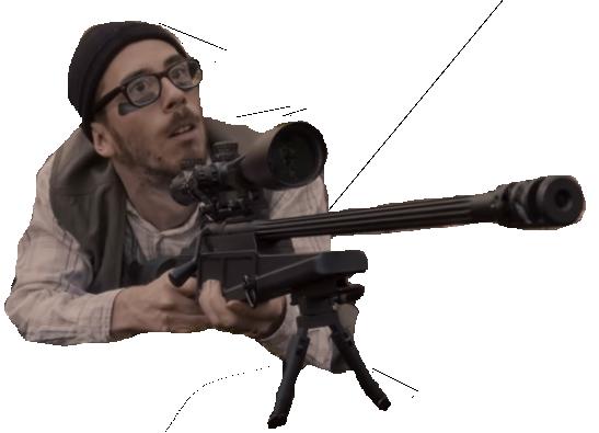 Sticker kemar sniper