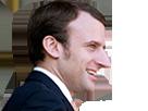 Sticker macron emmanuel candidat nez profil