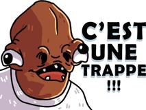 Sticker amiral ackbar star wars trap eco trappe