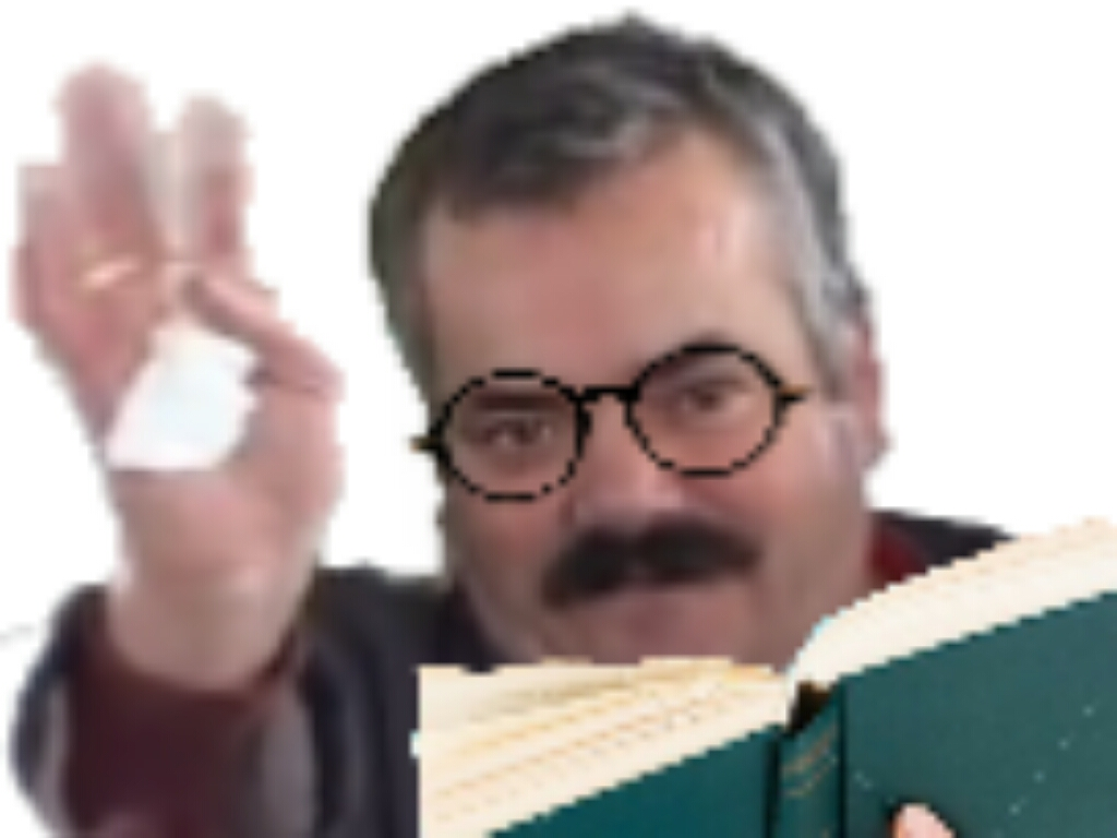 Sticker etudiant risitas ecole livre etude fac lunette travail universite etudier lire