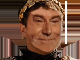 Sticker commode commodus imperator issou classique sourire romain troll