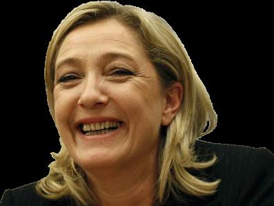 Sticker marine le pen lepen fn rire heureuse sourire front national