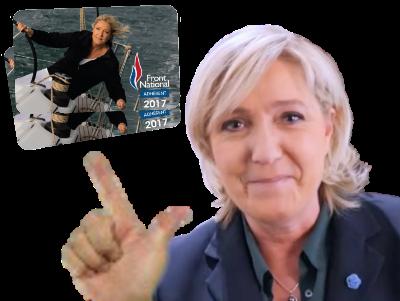 Sticker marine le pen lepen front national 2 deux sucres carte adherent gilbert fn mlp politic politique