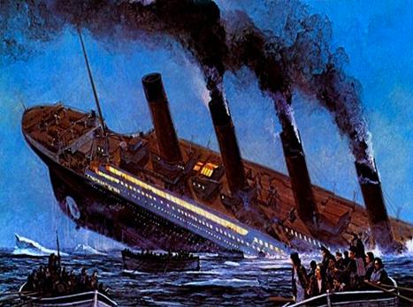 Sticker titanic mer ocean atlantique naufrage paquebot navire bateau iceberg