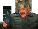 Sticker risitas uniforme militaire marine talkie walkie casque
