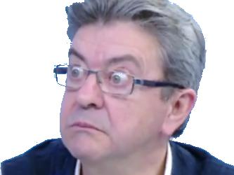 Sticker jean luc melenchon jlm 2017 etonne reaction gros yeux zoom ouch