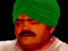 Sticker gange inde indien turban