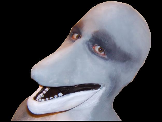 Sticker dauphin homme dolphin man profil