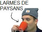 Sticker paris province cambrousse florian philippot tasse larmes paysans