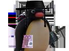 Sticker pingu juif argent