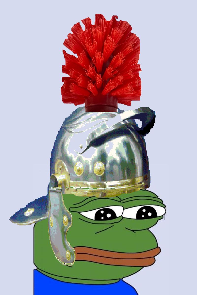Sticker guerrier romain grenouille